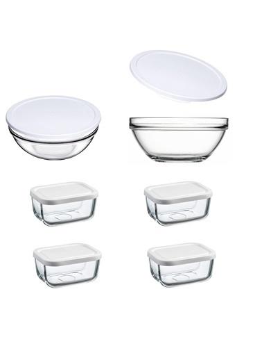 Paşabahçe Chefs Snowbox 6 Lı Cam Saklama Kabı Seti Renkli